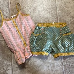 Size 8 tank top and shorts.  Matilda Jane.